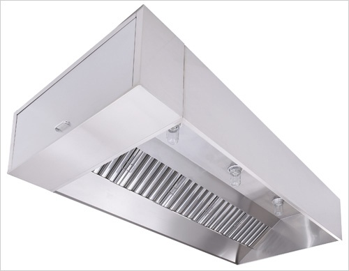 4824EX-2 u2013 11ft 0u2033 Long Exhaust-Only Wall Canopy Hood with Built-in 3u2033 Back Standoff & 4824EX-2 - 11ft 0